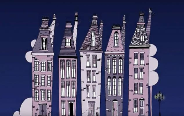 Summer study abroad programs at London College of Communication: summer classes in Animation - Image of an animation showing hand drawn houses